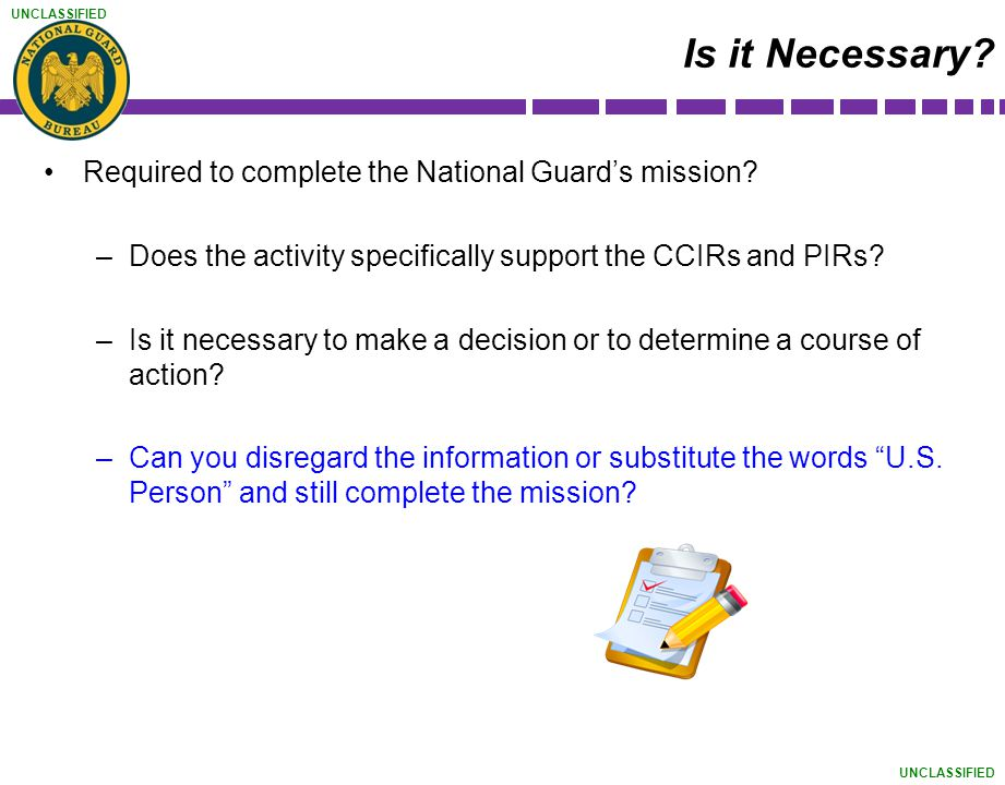 Is it Necessary Required to complete the National Guard's mission