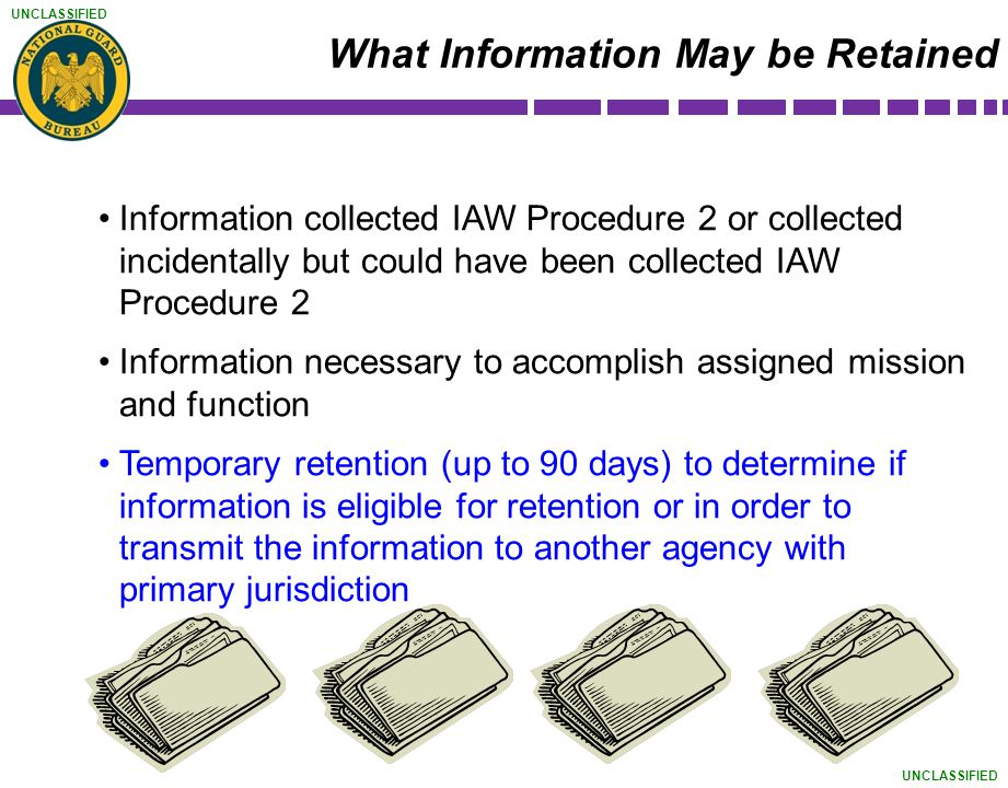 What Information May be Retained
