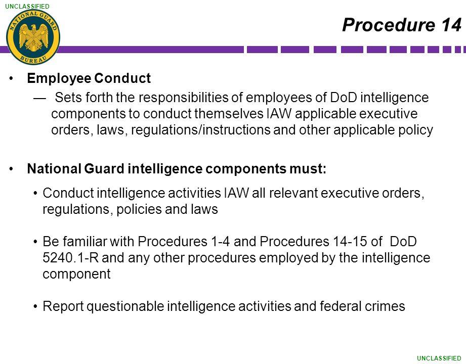 Procedure 14 Employee Conduct