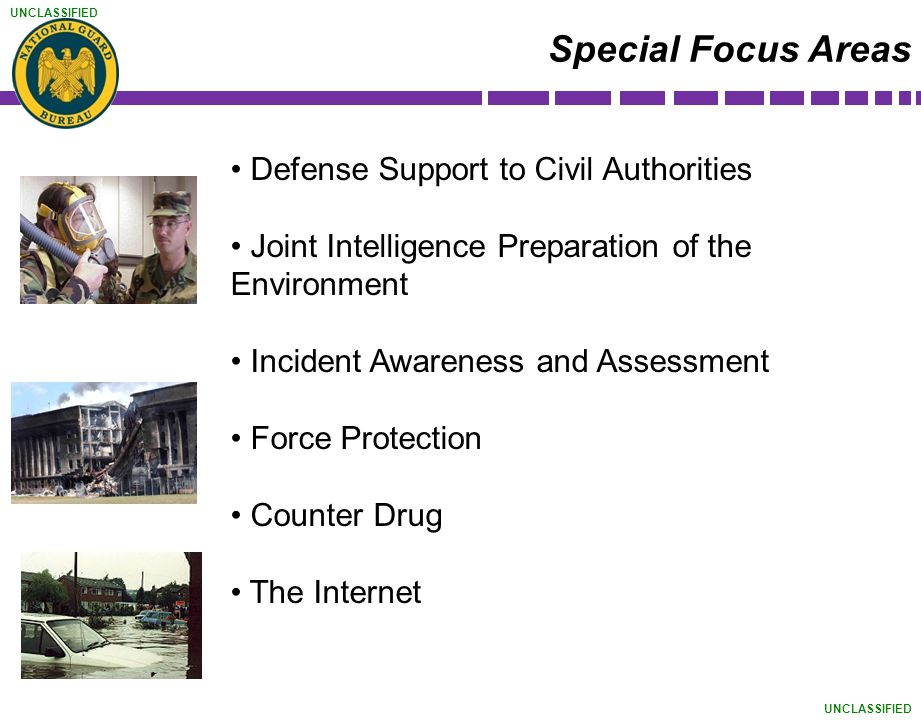 Special Focus Areas Defense Support to Civil Authorities