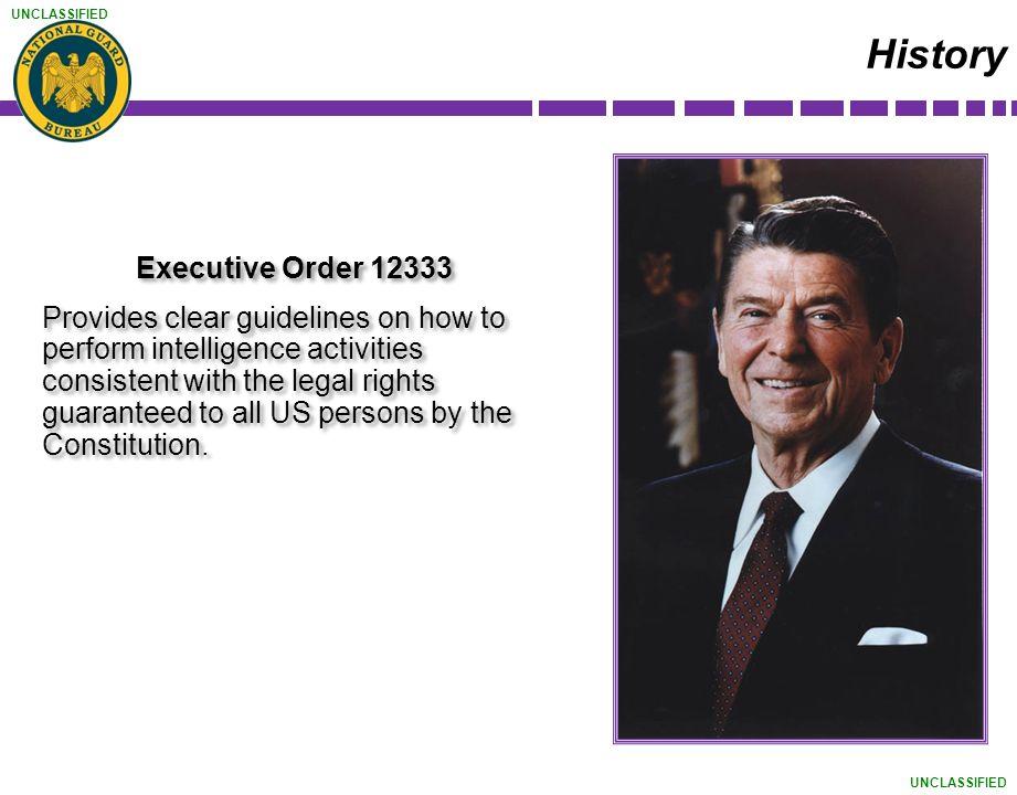History Executive Order 12333