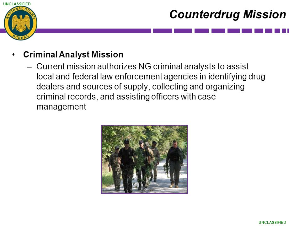 Counterdrug Mission Criminal Analyst Mission