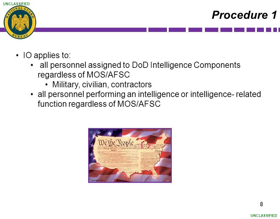 Procedure 1 IO applies to: