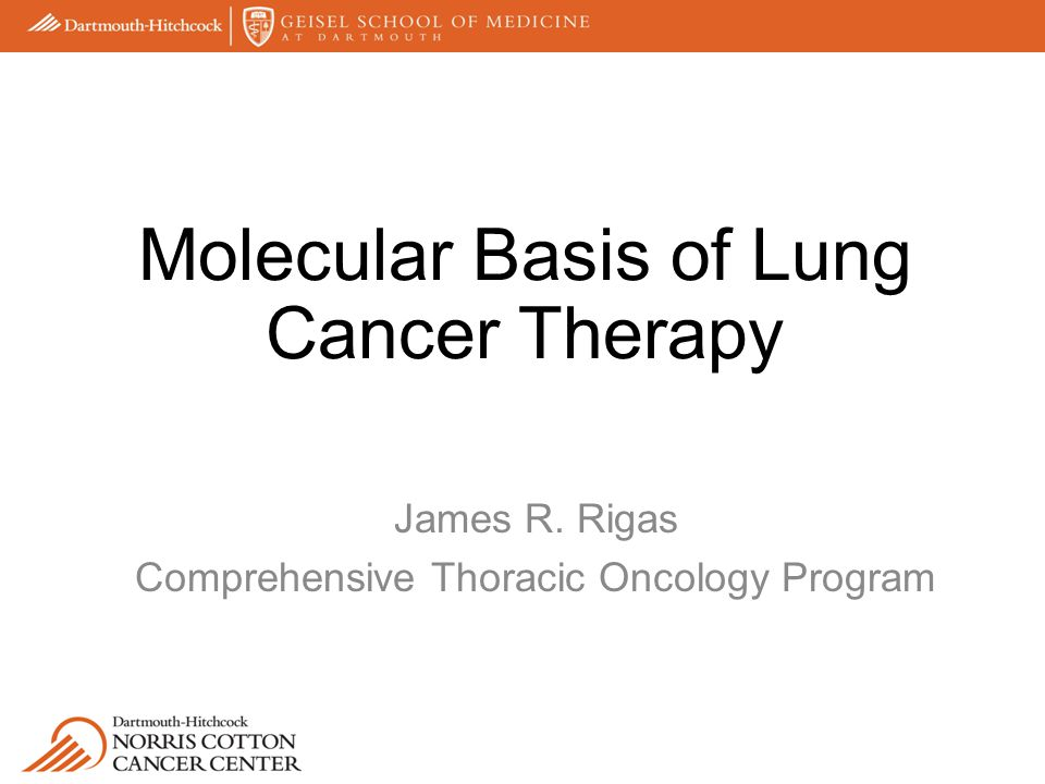James R. Rigas Comprehensive Thoracic Oncology Program