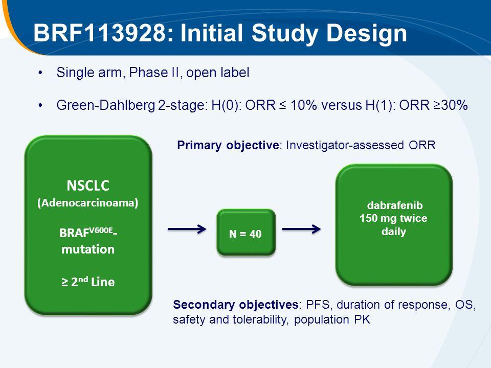 BRF113928: Initial Study Design