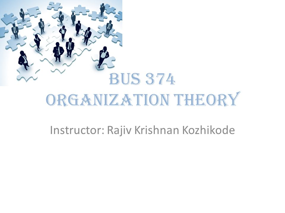 BUS 374 Organization Theory