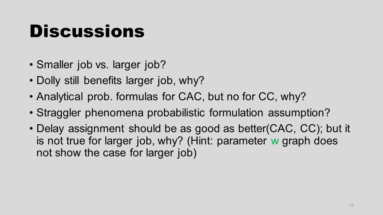 Discussions Smaller job vs. larger job