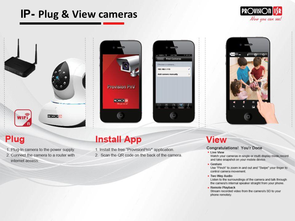 IP- Plug & View cameras