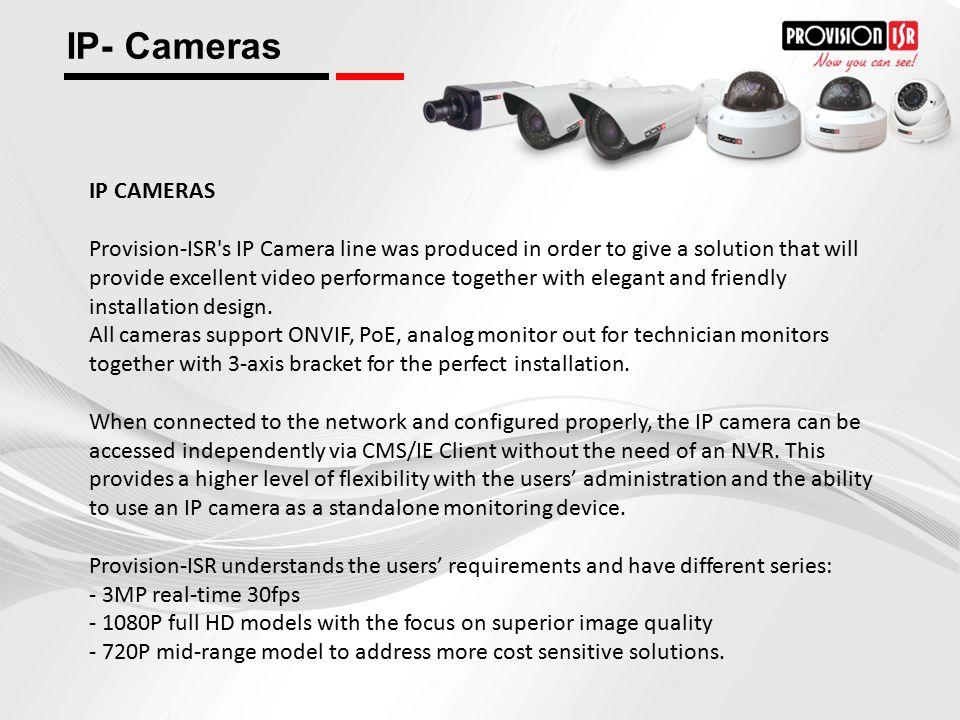 IP- Cameras IP CAMERAS.