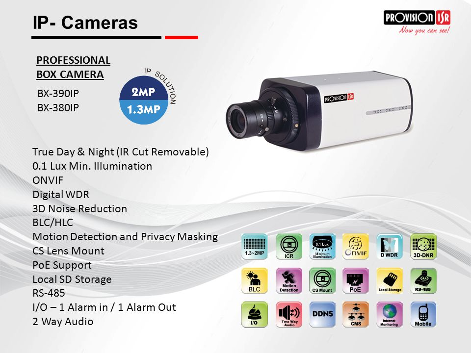 IP- Cameras PROFESSIONAL BOX CAMERA BX-390IP BX-380IP