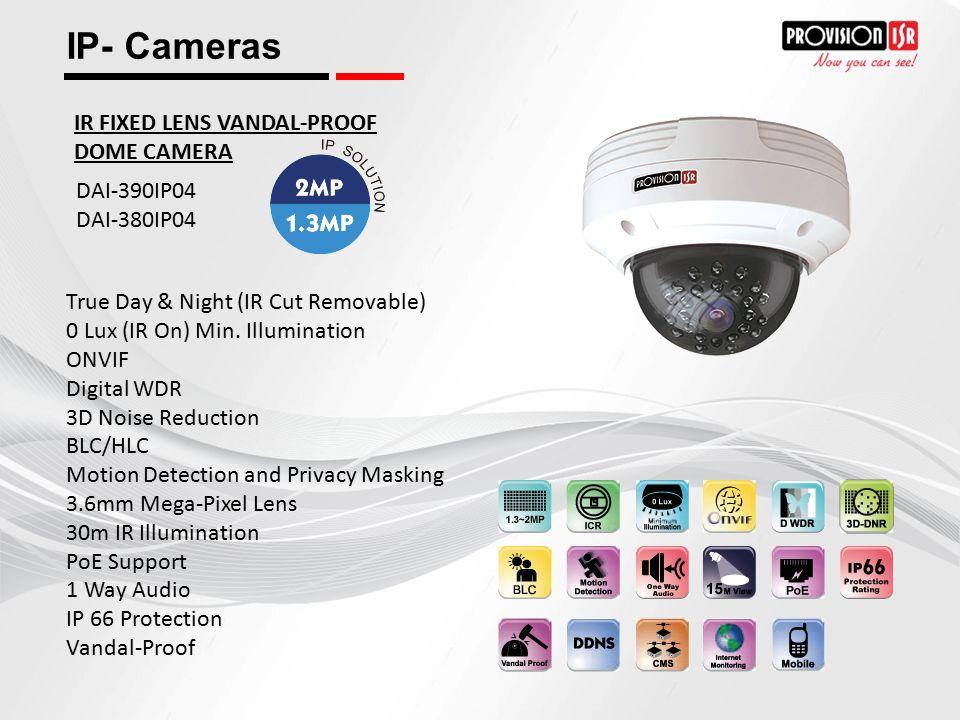 IP- Cameras IR FIXED LENS VANDAL-PROOF DOME CAMERA DAI-390IP04