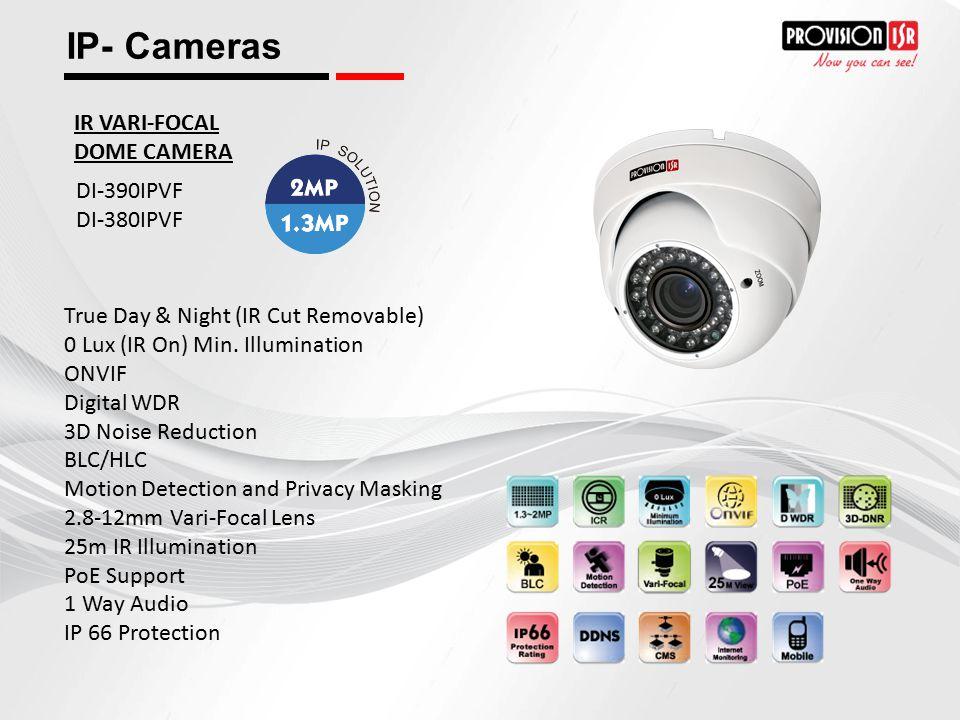 IP- Cameras IR VARI-FOCAL DOME CAMERA DI-390IPVF DI-380IPVF