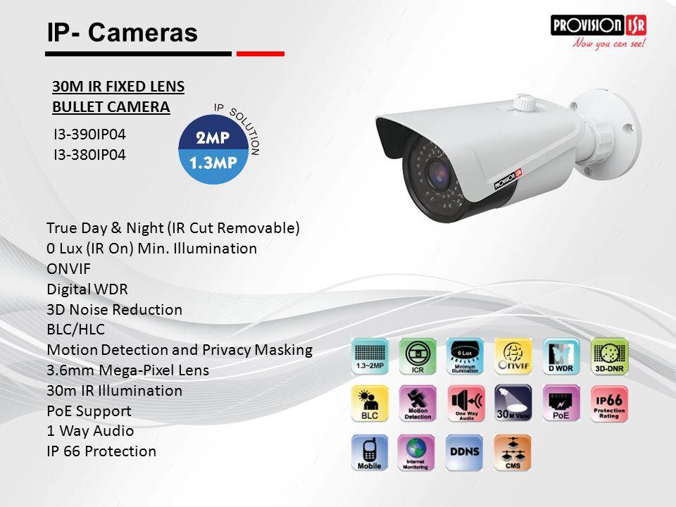 IP- Cameras 30M IR FIXED LENS BULLET CAMERA I3-390IP04 I3-380IP04