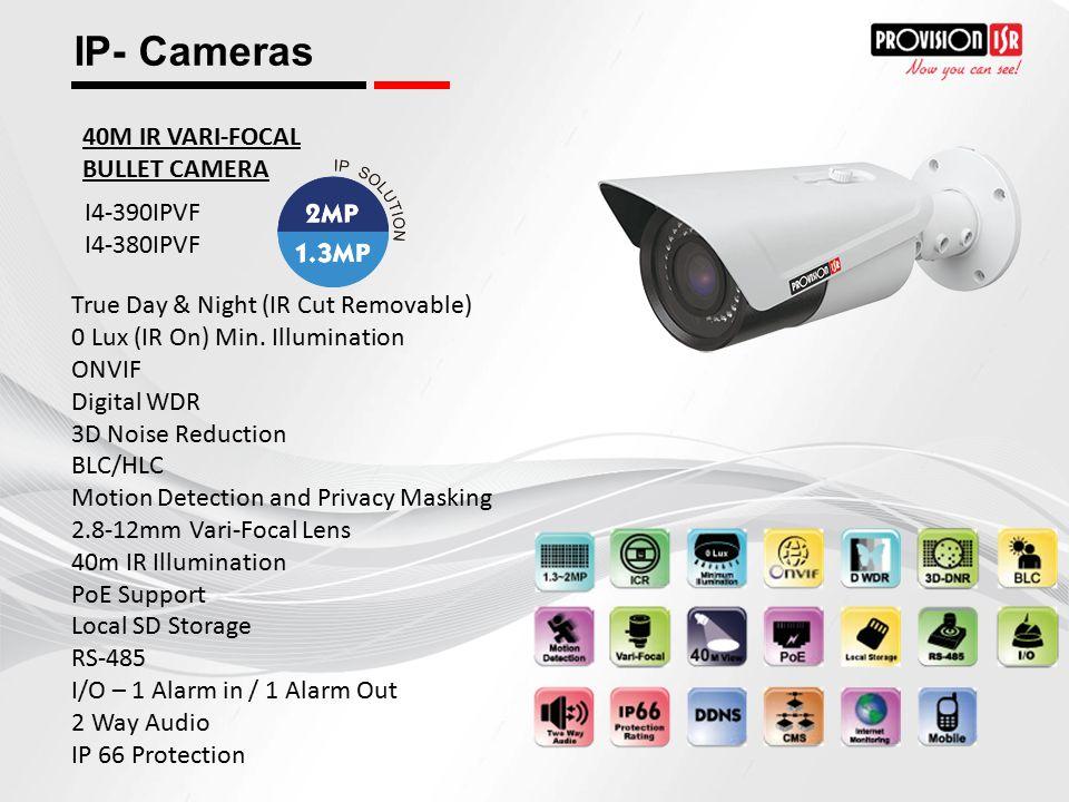 IP- Cameras 40M IR VARI-FOCAL BULLET CAMERA I4-390IPVF I4-380IPVF