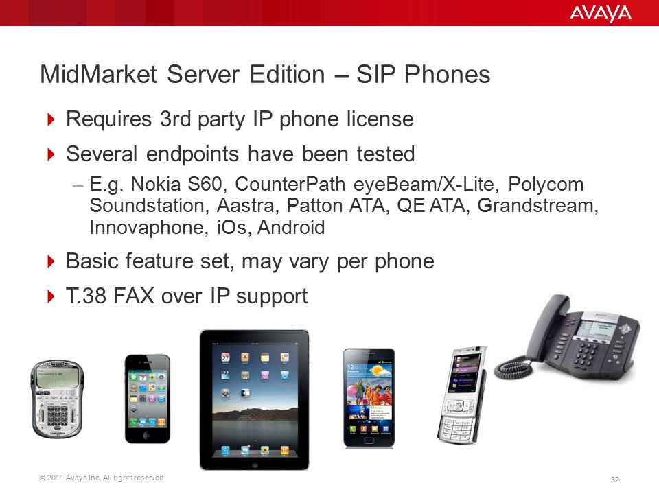 MidMarket Server Edition – SIP Phones