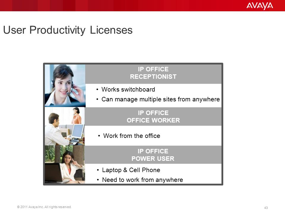 User Productivity Licenses