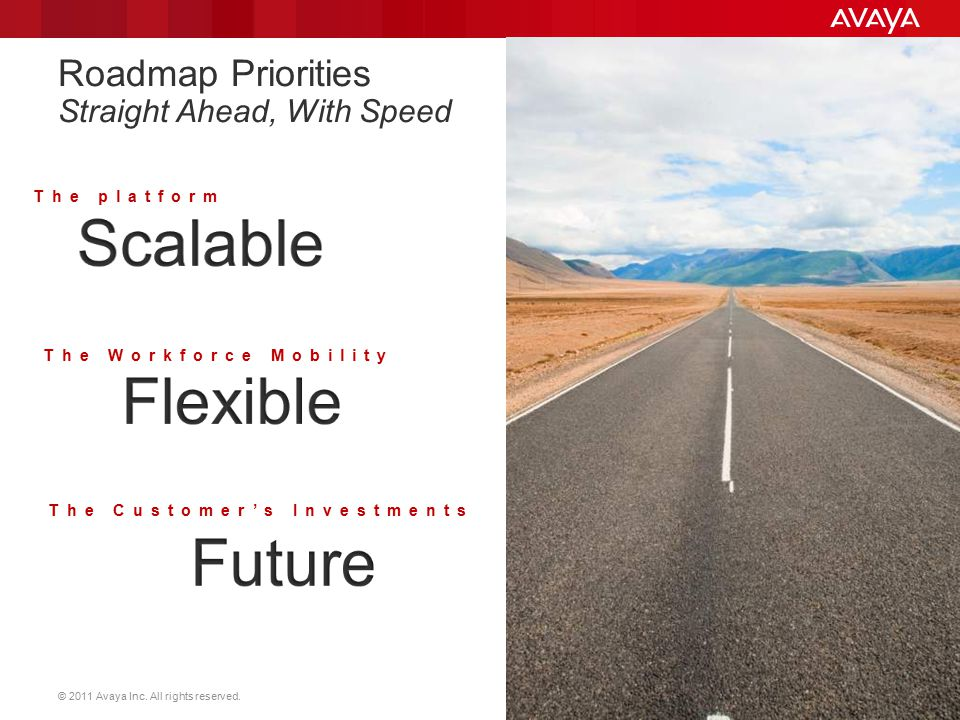 Roadmap Priorities Straight Ahead, With Speed