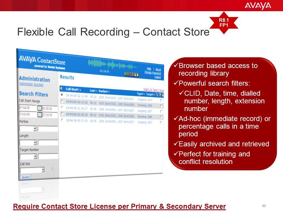 Flexible Call Recording – Contact Store