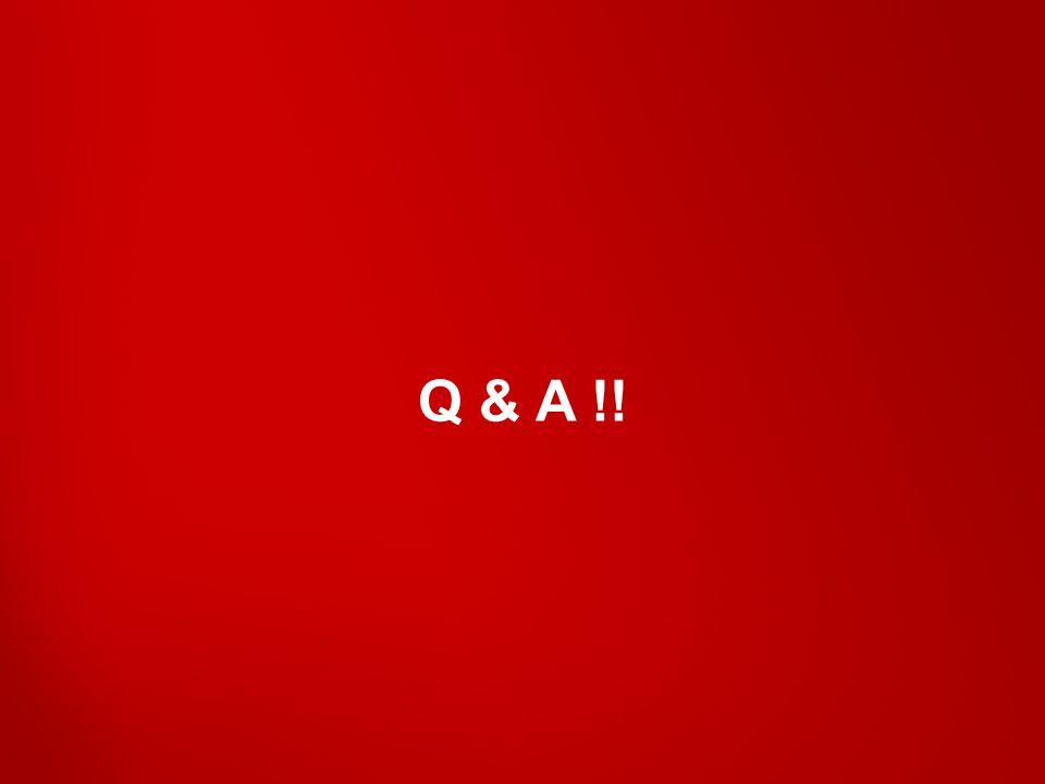 Q & A !!