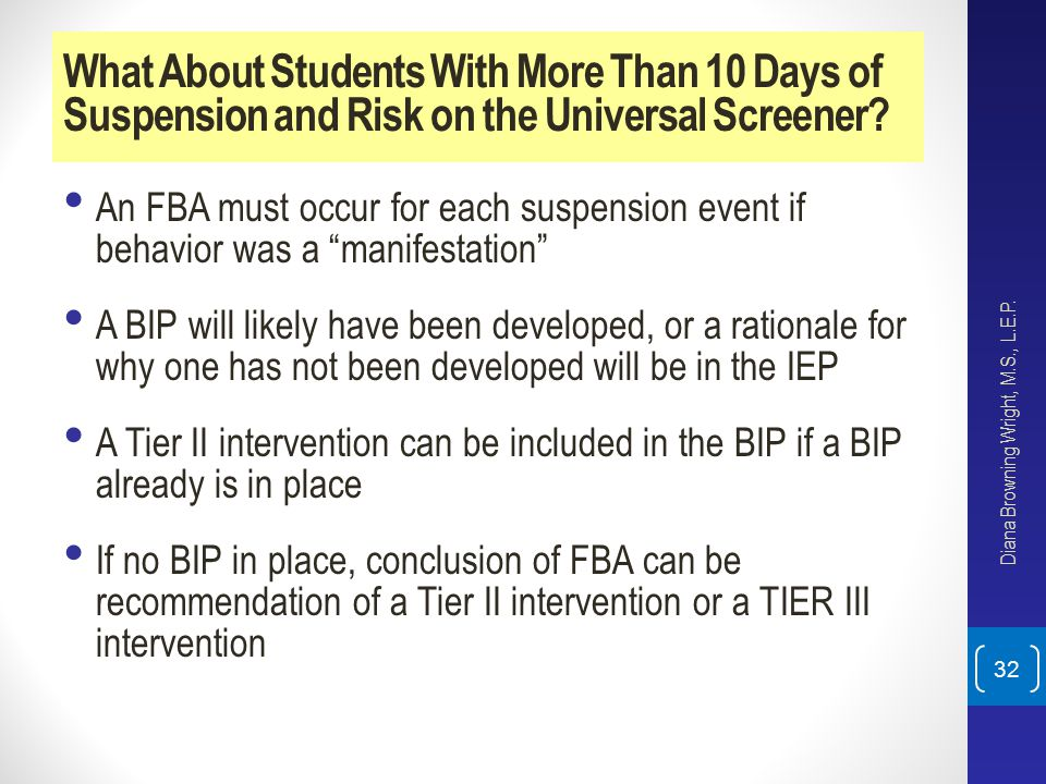 What About Students With More Than 10 Days of Suspension and Risk on the Universal Screener