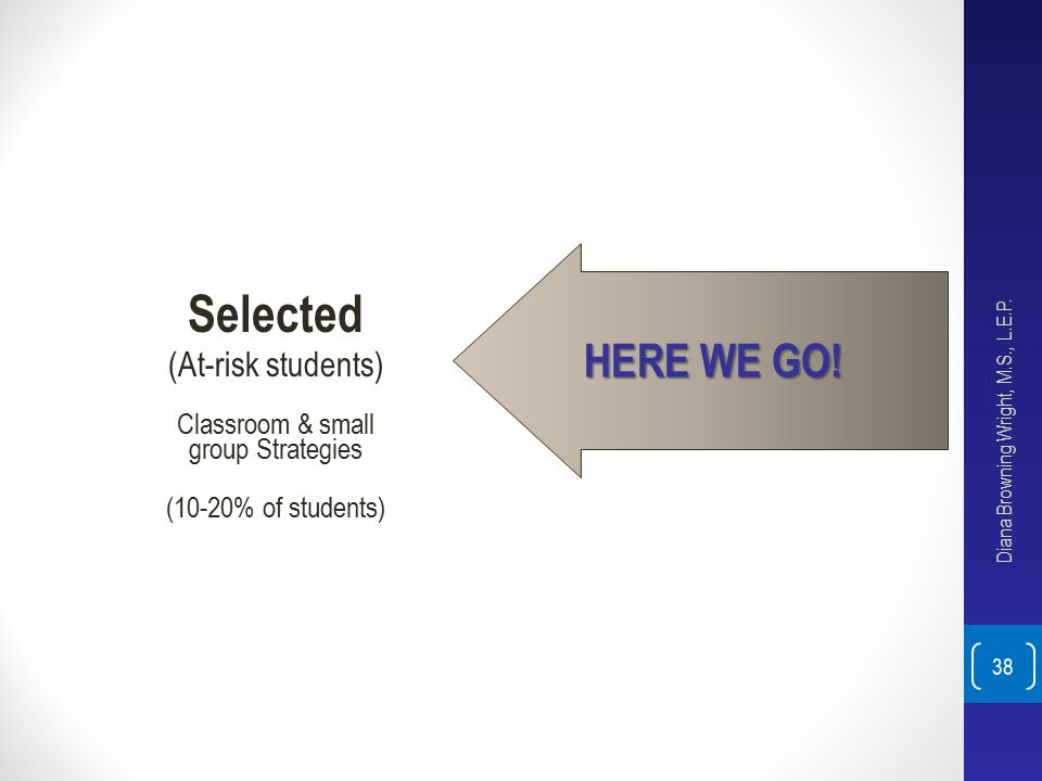 Selected HERE WE GO! (At-risk students) Classroom & small
