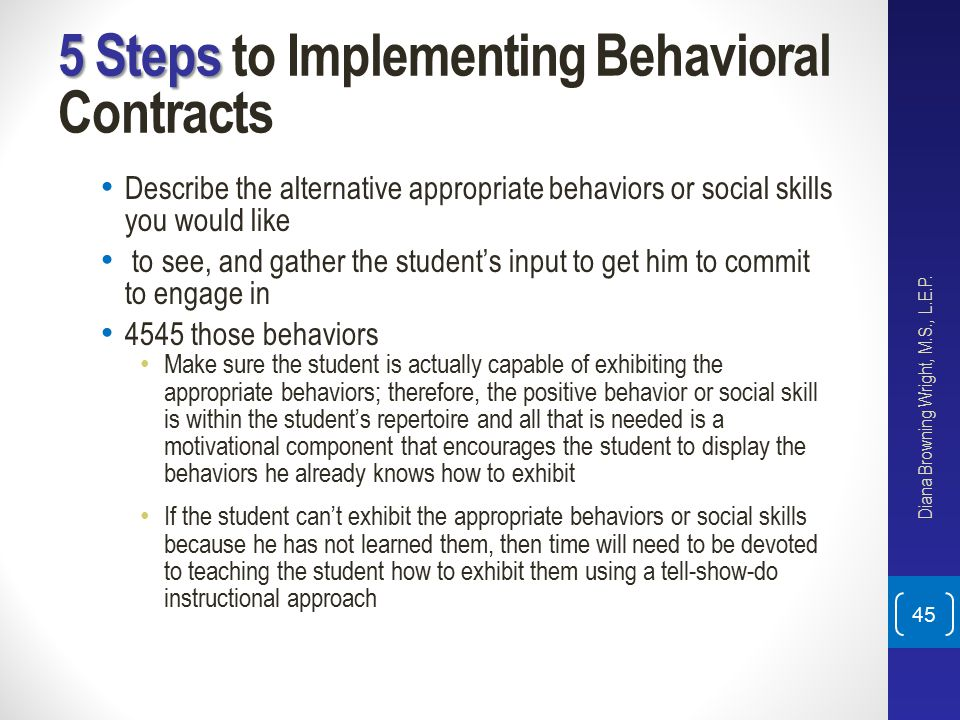 5 Steps to Implementing Behavioral Contracts
