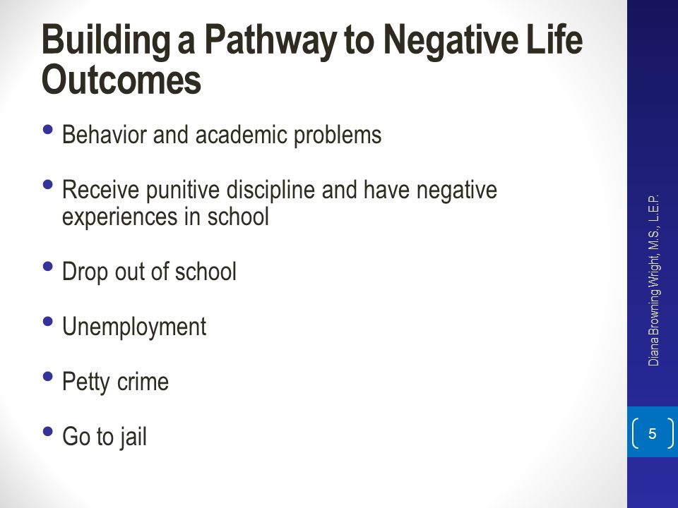 Building a Pathway to Negative Life Outcomes