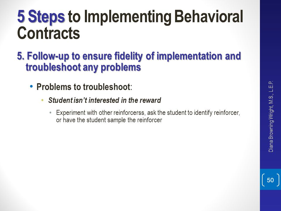 Six Evidence Based Behavior Interventions Prior To Or Instead Of