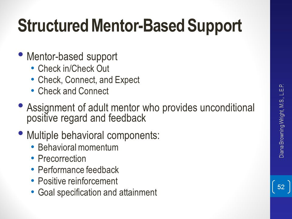Structured Mentor-Based Support