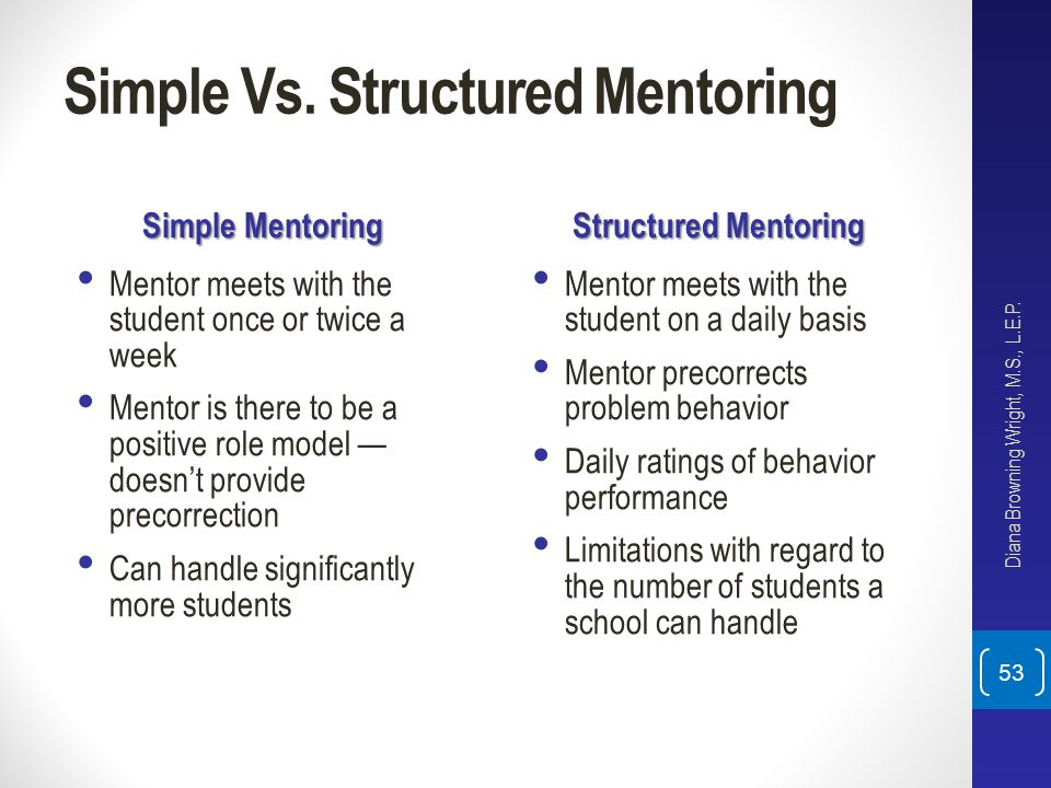 Simple Vs. Structured Mentoring