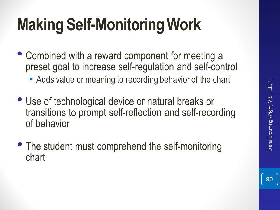 Making Self-Monitoring Work