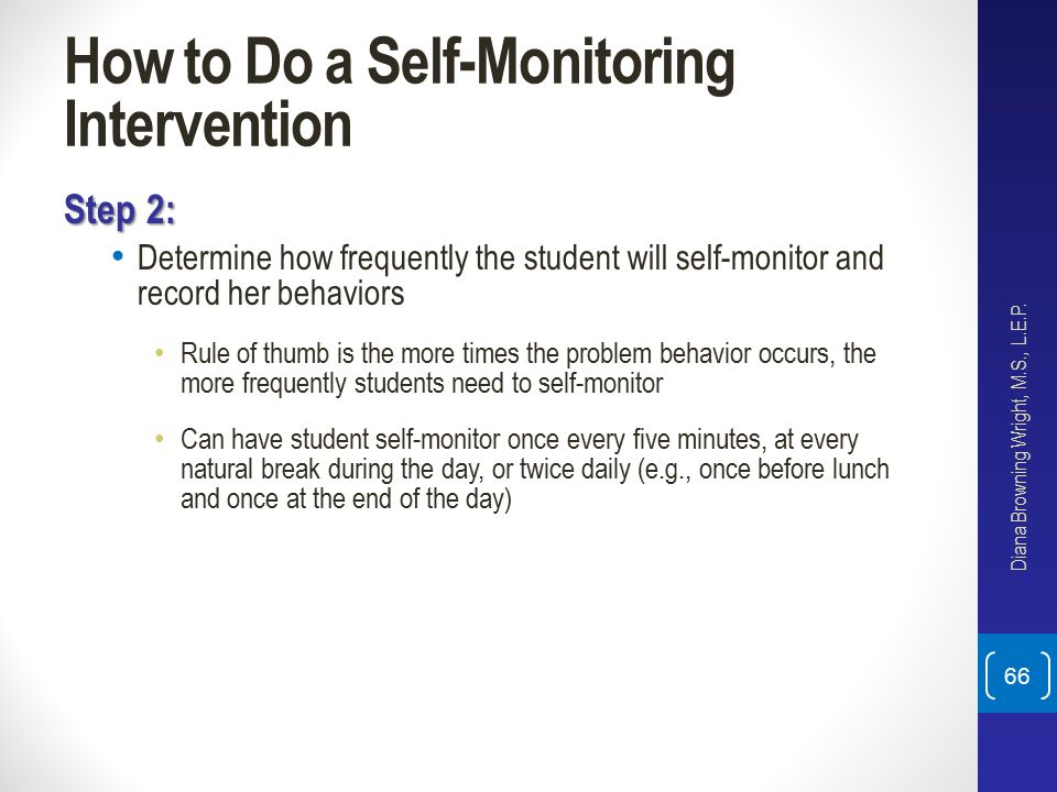How to Do a Self-Monitoring Intervention