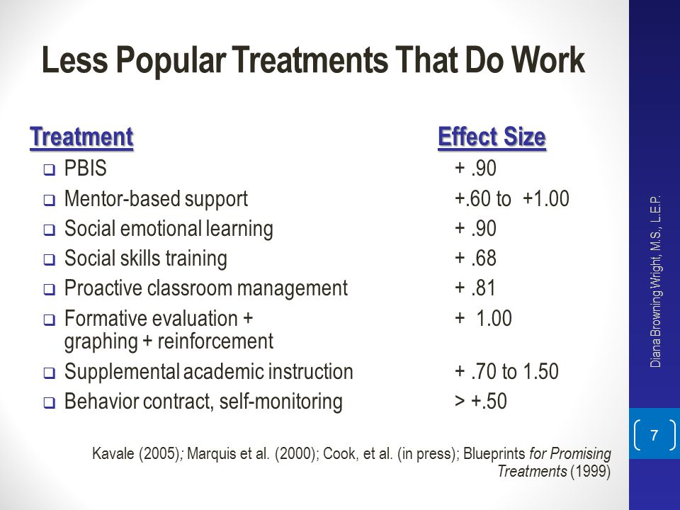 Less Popular Treatments That Do Work