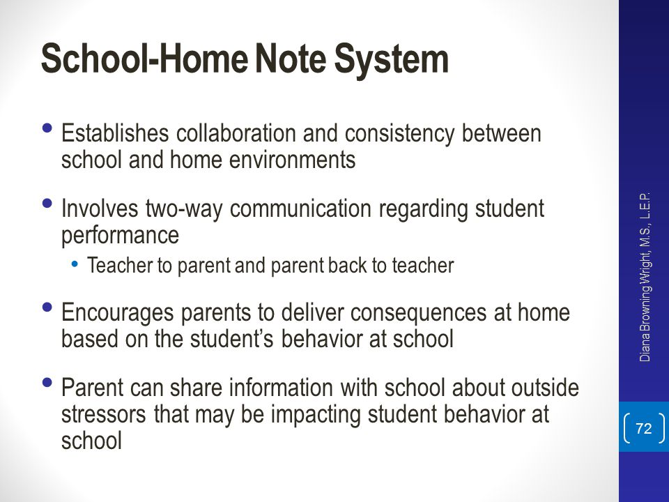 School-Home Note System
