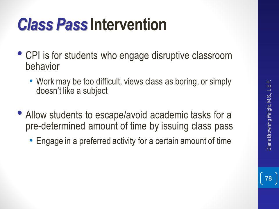 Class Pass Intervention