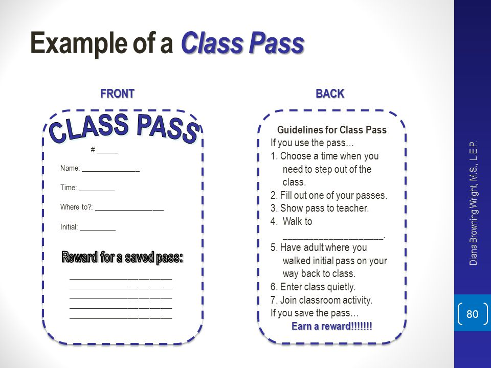 Guidelines for Class Pass Reward for a saved pass: