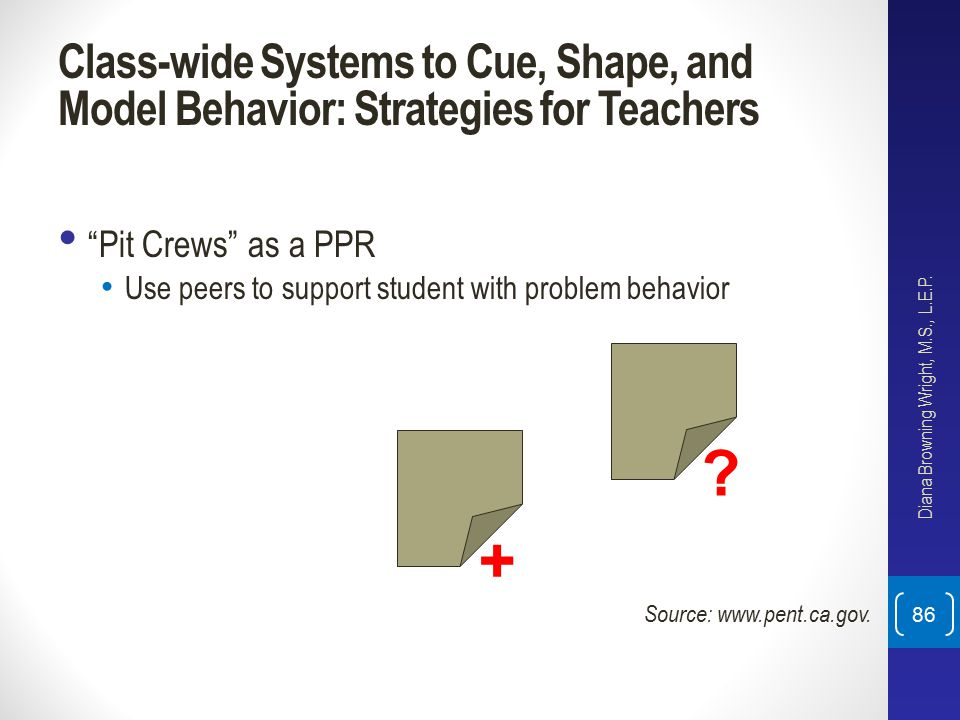 Class-wide Systems to Cue, Shape, and Model Behavior: Strategies for Teachers