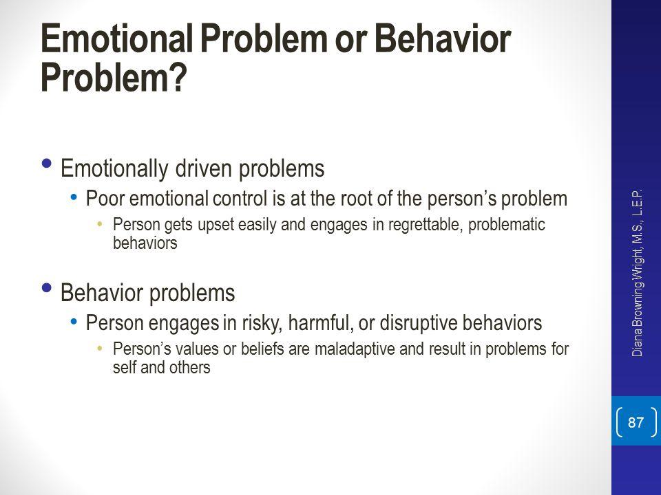 Emotional Problem or Behavior Problem
