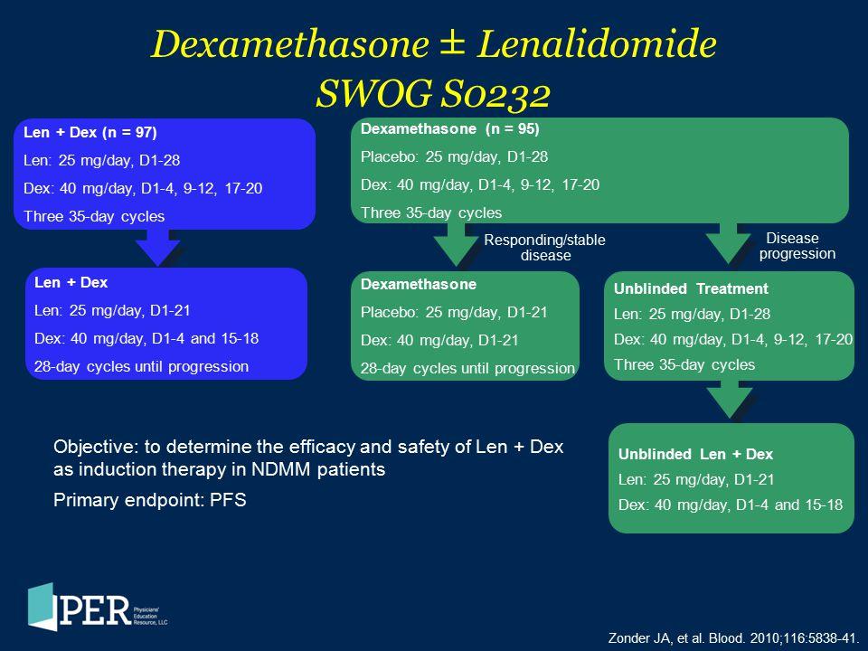 Dexamethasone ± Lenalidomide SWOG S0232