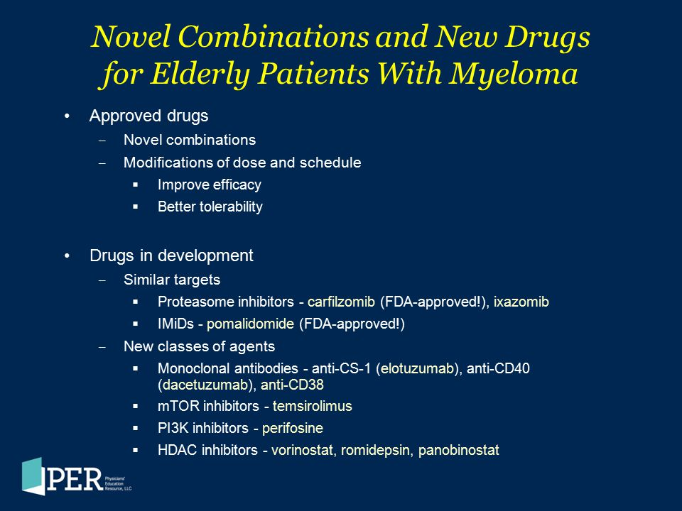 Novel Combinations and New Drugs for Elderly Patients With Myeloma
