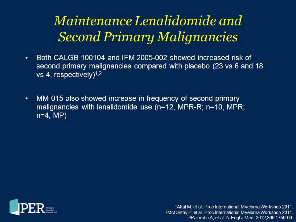 Maintenance Lenalidomide and Second Primary Malignancies