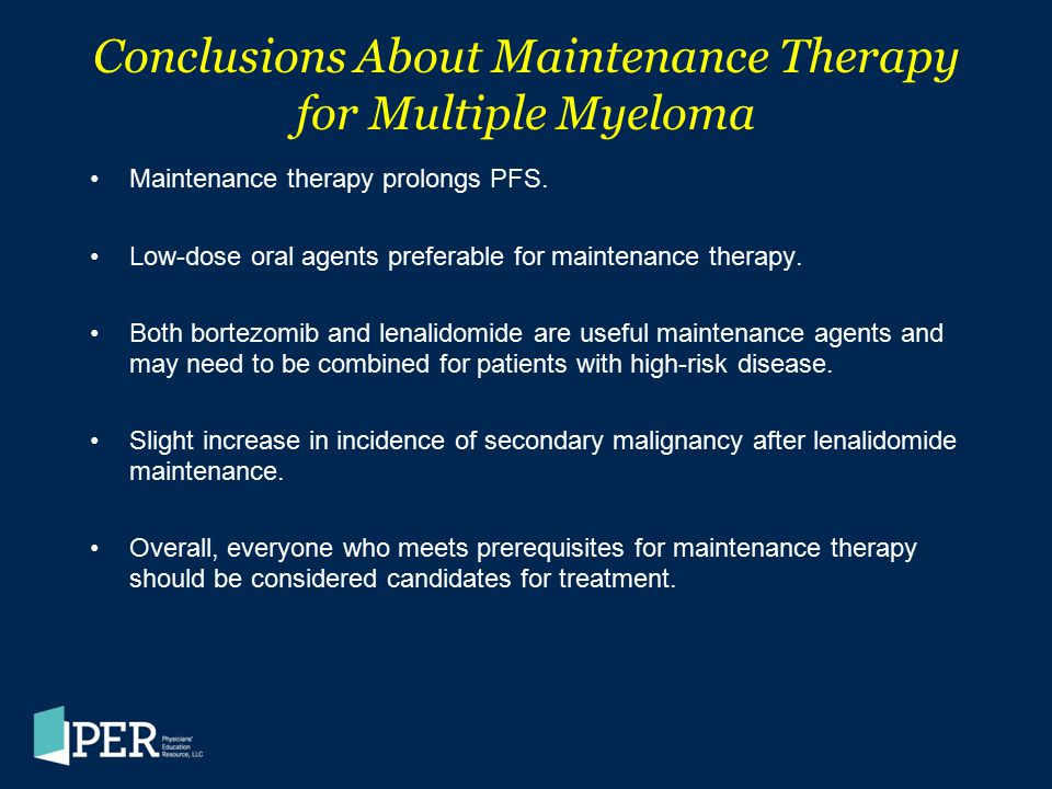 Conclusions About Maintenance Therapy for Multiple Myeloma