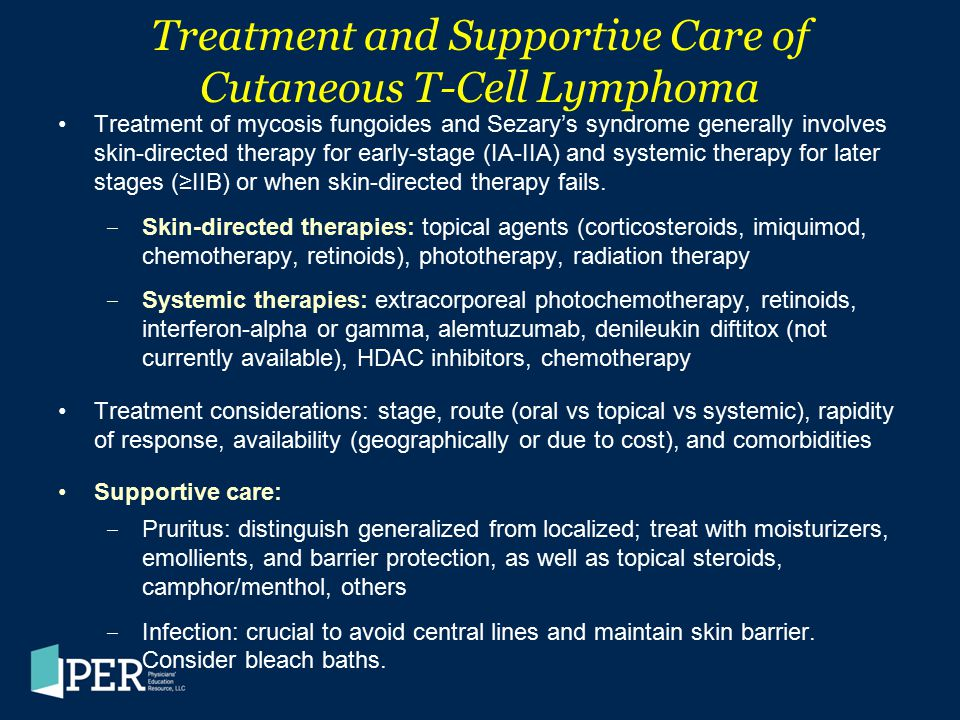 Treatment and Supportive Care of Cutaneous T-Cell Lymphoma