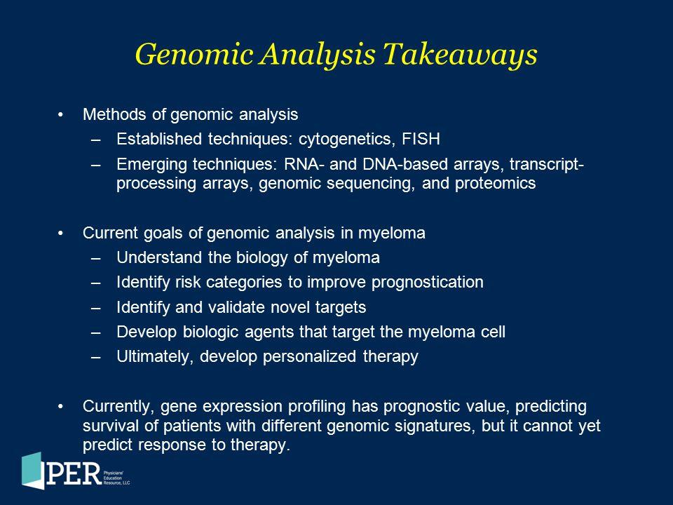 Genomic Analysis Takeaways