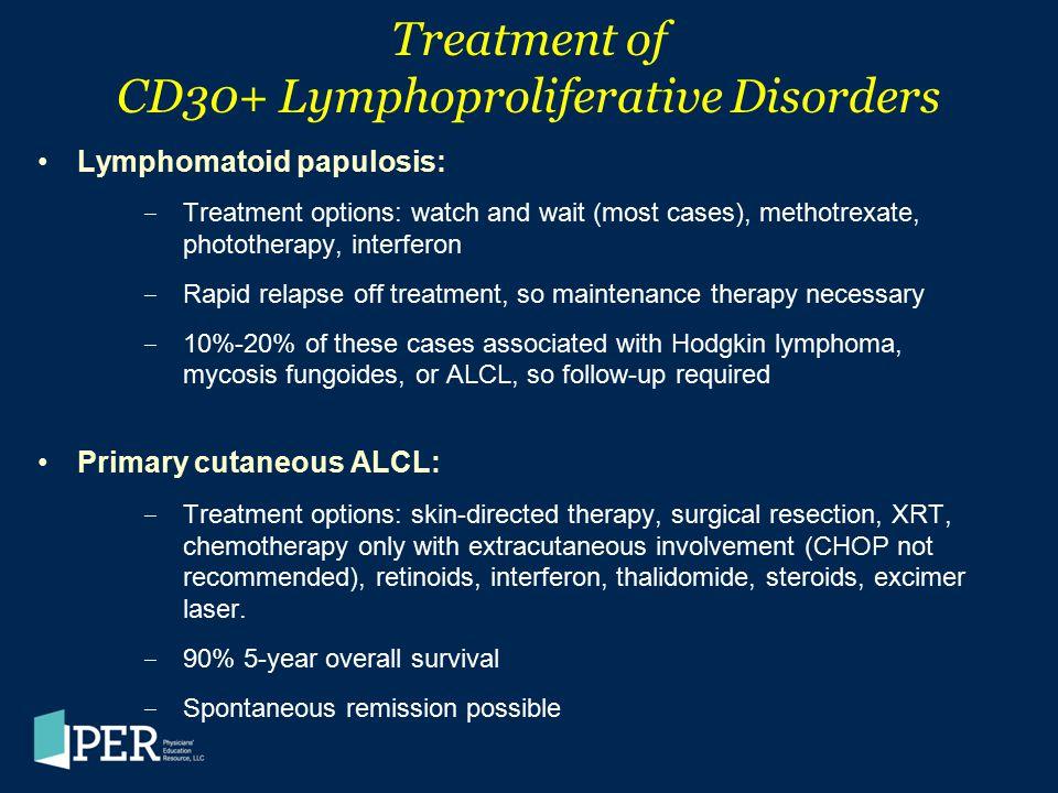 Treatment of CD30+ Lymphoproliferative Disorders