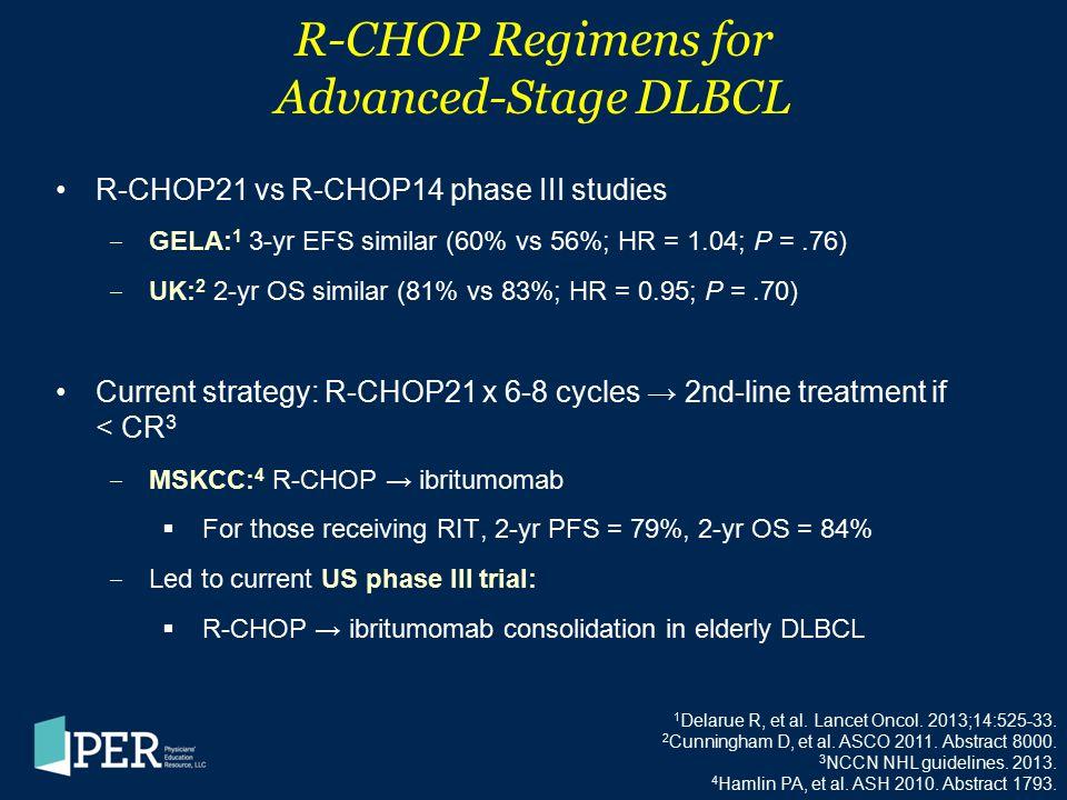 R-CHOP Regimens for Advanced-Stage DLBCL