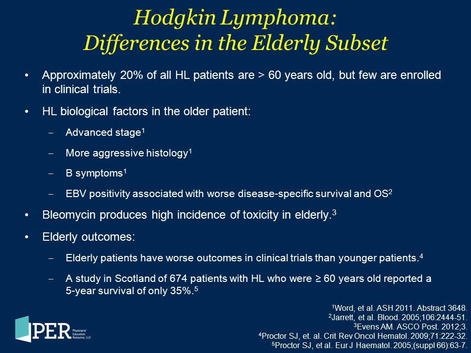 Hodgkin Lymphoma: Differences in the Elderly Subset