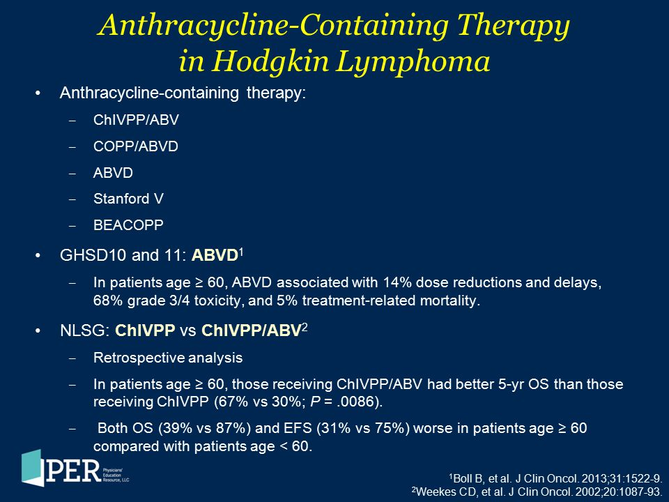 Anthracycline-Containing Therapy in Hodgkin Lymphoma