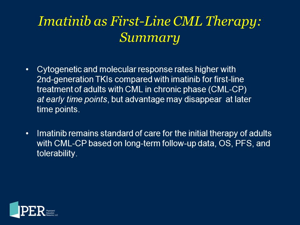 Imatinib as First-Line CML Therapy: Summary