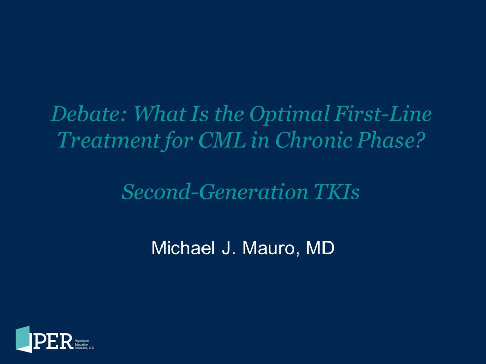 Debate: What Is the Optimal First-Line Treatment for CML in Chronic Phase Second-Generation TKIs